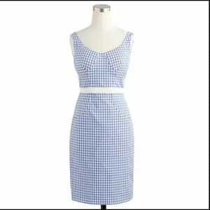 Altuzarra for J. Crew Blue Gingham Pinup Dress 2